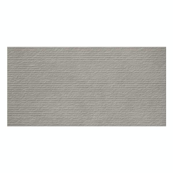British Ceramic Tile Dune textured light grey matt wall tile 298mm x 598mm