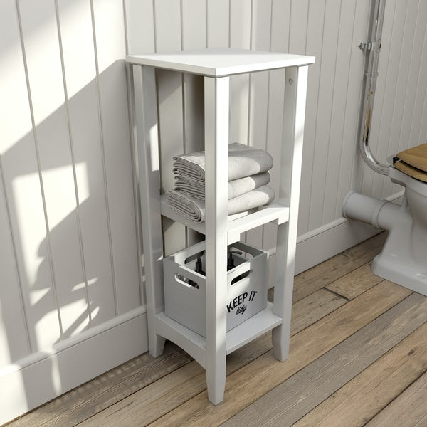 The Bath Co. Camberley white open storage unit 795 x 300mm