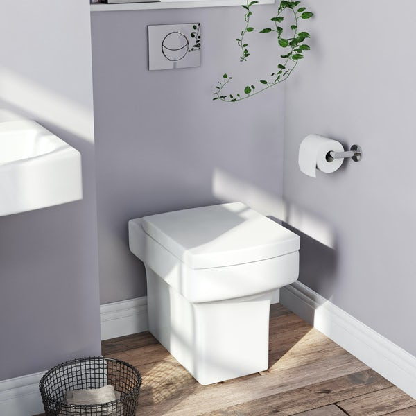 Orchard Wye back to wall toilet with soft close toilet seat
