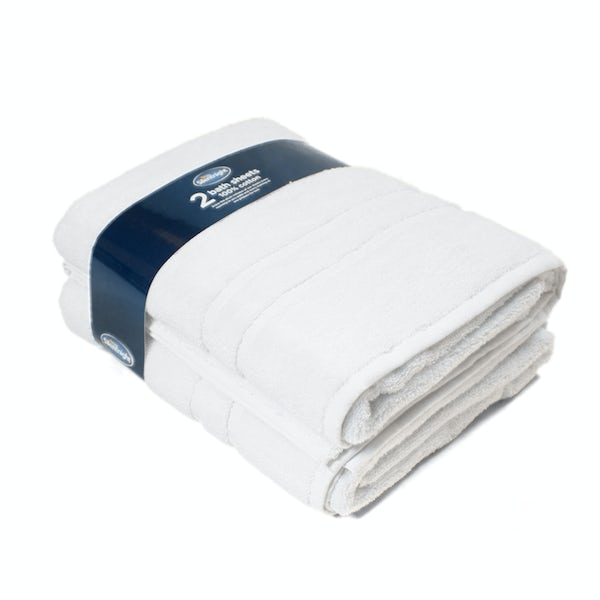 Silentnight Set of 2 White Bath Sheet