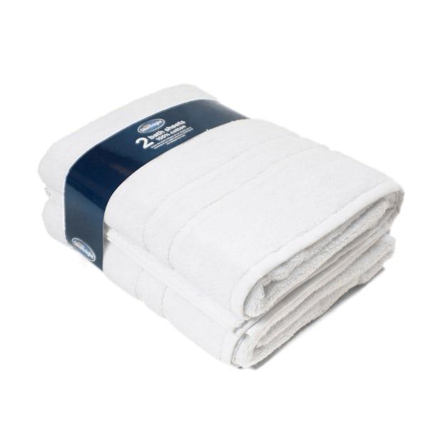 Silentnight Set of 2 White Bath Sheet