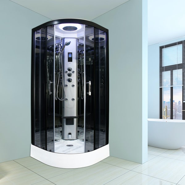 Insignia Premium quadrant steam shower cabin with tinted glass
