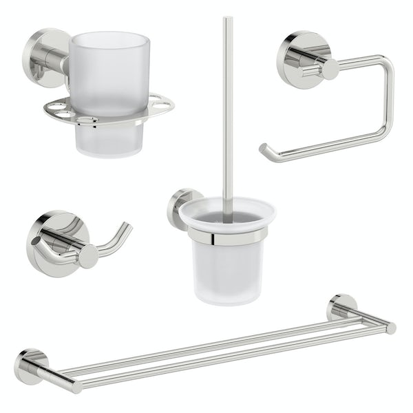 Orchard Eden round master bathroom 6 piece accessory set