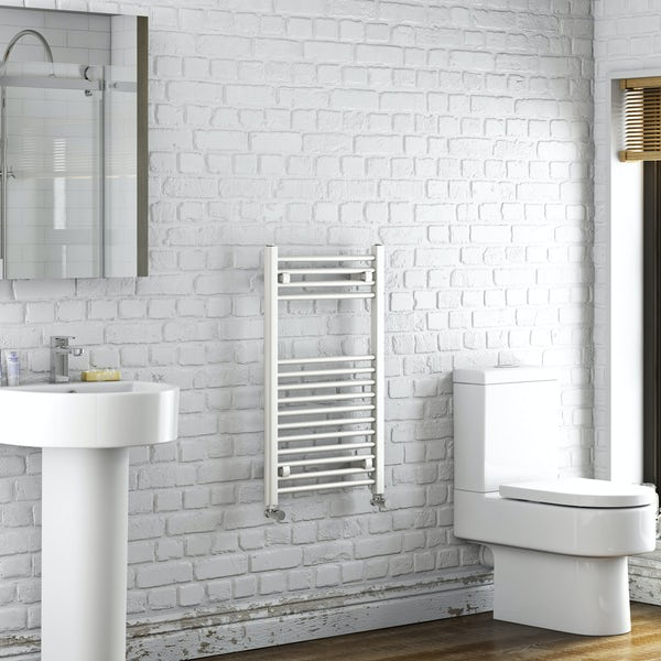 Orchard Eden white heated towel rail 800 x 490