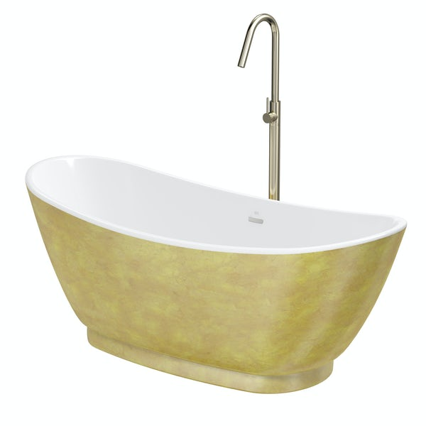 Belle de Louvain Galvez freestanding bath and tap pack