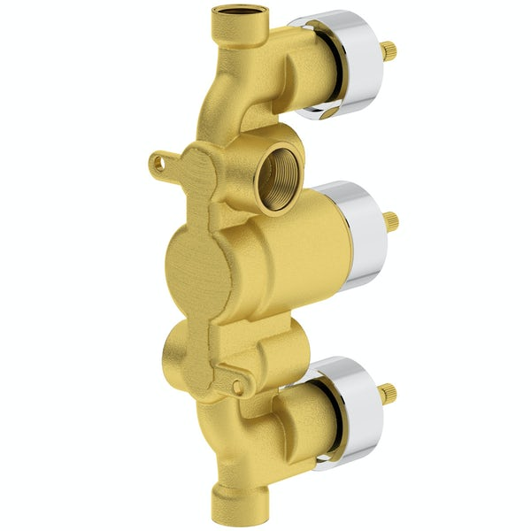 Mode Ellis square triple thermostatic shower valve