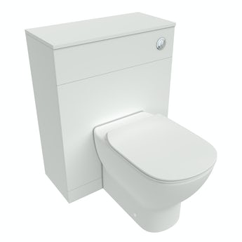 Ideal Standard Tesi white back to wall unit, toilet with Aquablade, concealed cistern and soft close seat