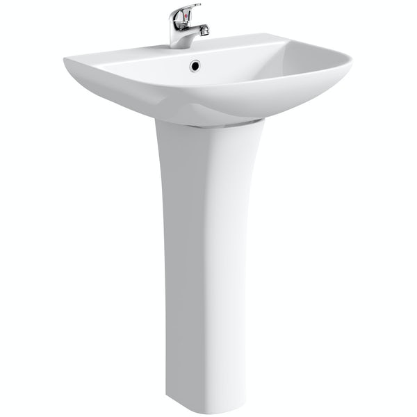 Clarity square 1 tap hole basin 580mm
