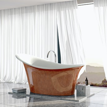 Belle de Louvain Fontana metallic effect freestanding bath