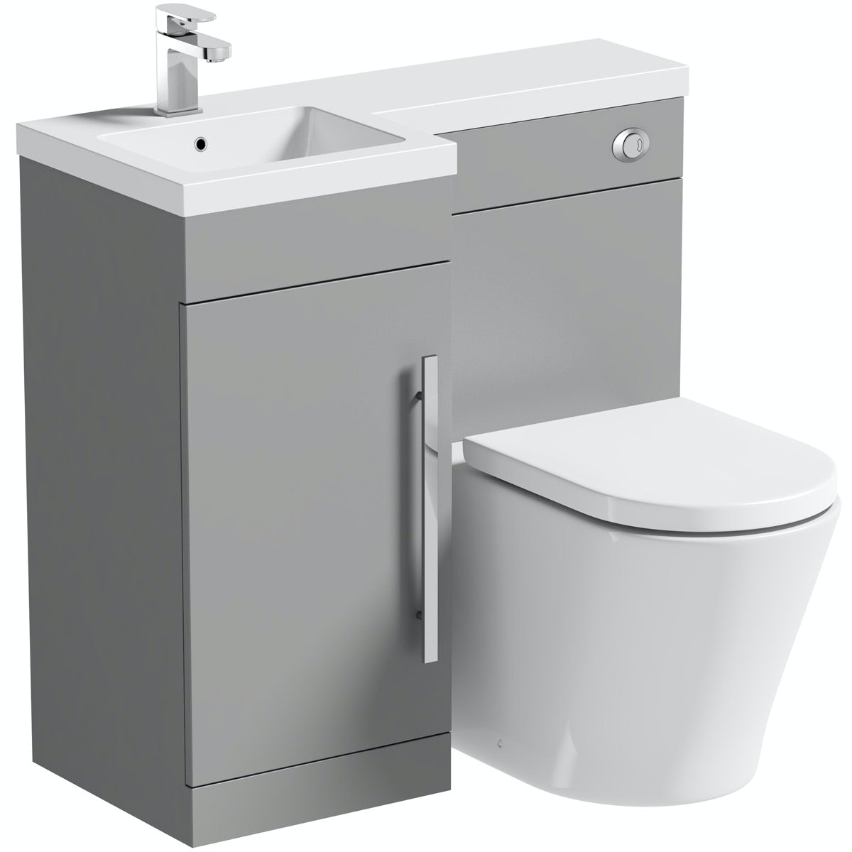 Excellent Orchard Myspace Grey Left Handed Combination With Contemporary Back To Wall Toilet And Seat Spiritservingveterans Wood Chair Design Ideas Spiritservingveteransorg