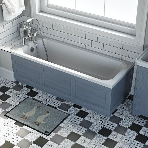The Bath Co. Beaumont powder blue bath end panel 700mm