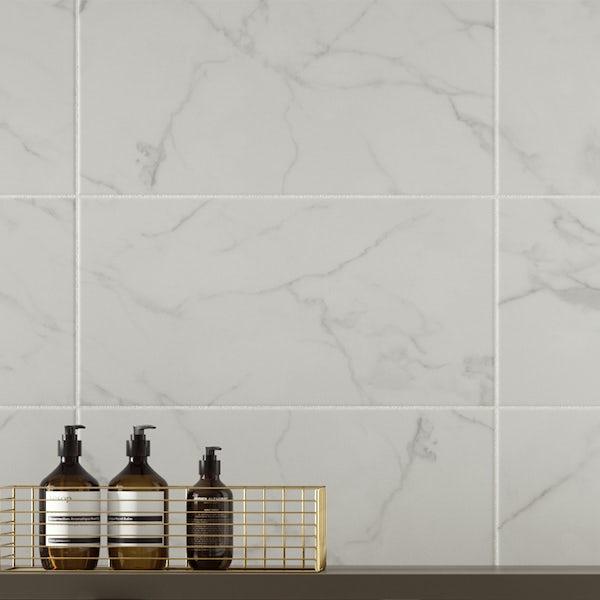 British Ceramic Tile Polar ice grey matt wall tile 248mm x 498mm