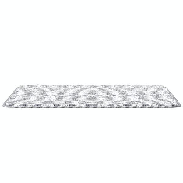 Accents grey geometric design microfiber bath mat