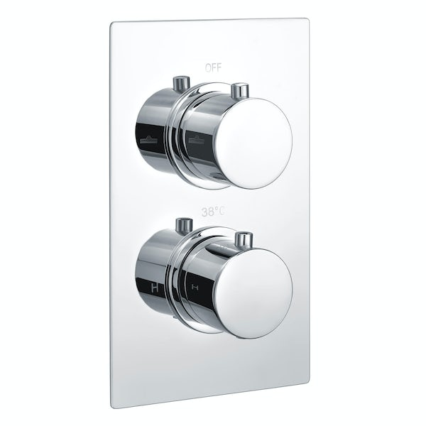 Kirke Curve twin thermostatic shower valve with diverter