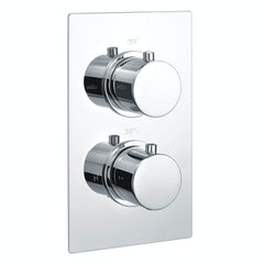 Main image for Kirke Curve twin thermostatic shower valve with diverter