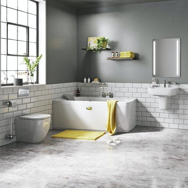 Jacuzzi complete left handed corner bath suite