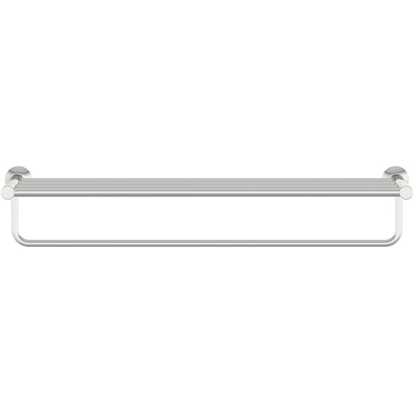 Accents round contemporary towel shelf
