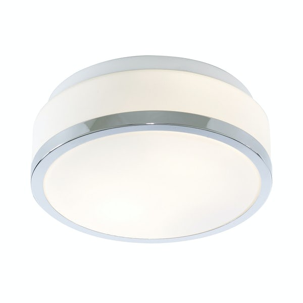 Searchlight Discs chrome flush bathroom ceiling light