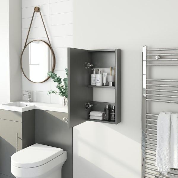 Accents Slimline slate matt wall hung cabinet 650 x 300mm