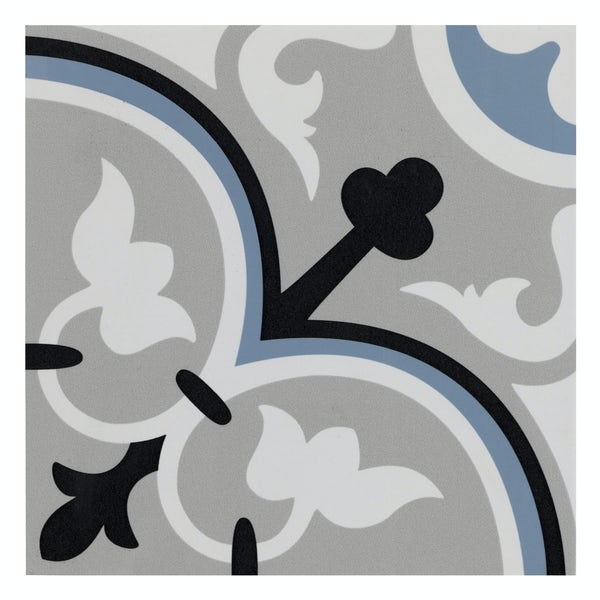 Valencia Isla traditional matt wall and floor tile 200mm x 200mm