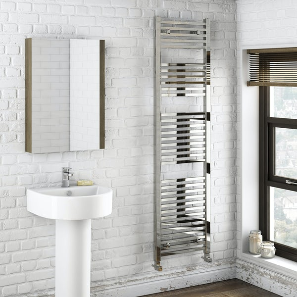 Orchard Wye heated towel rail 1800 x 490