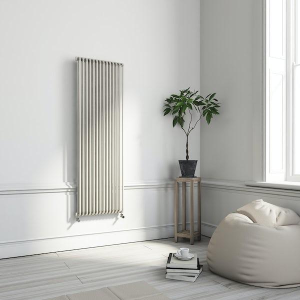 Terma Delfin soft white vertical radiator 1800 x 580