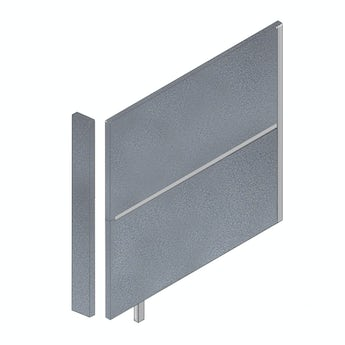 Pendle anthracite toilet cubicle partition pack