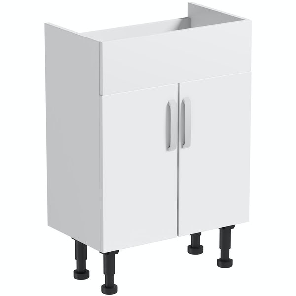 Mode Nouvel gloss white vanity unit 600mm