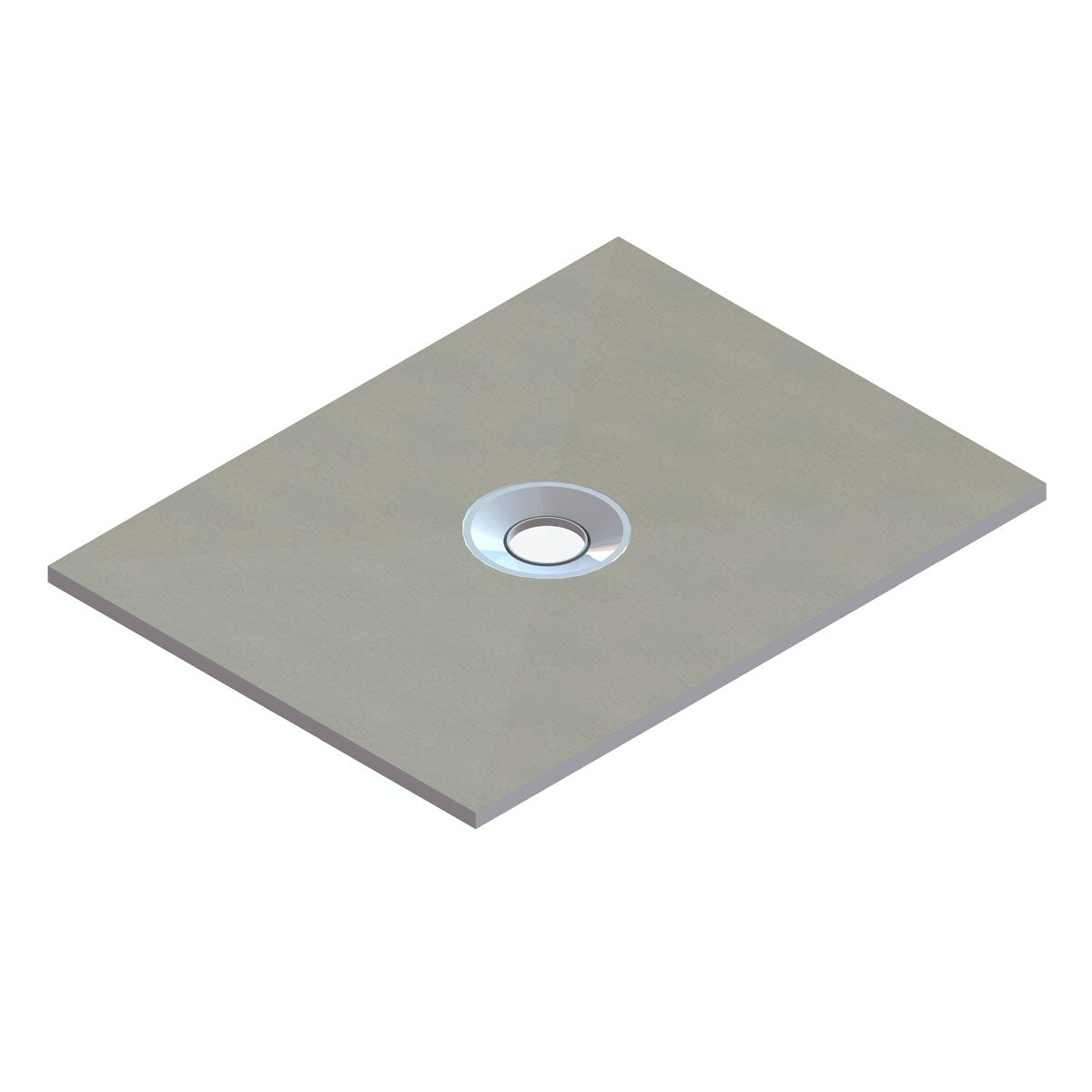 Orchard rectangular wet room tray former with centre waste position 1200 x 900