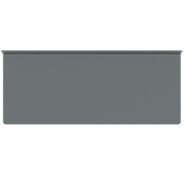 Accents Mono grey 300mm bathroom shelf