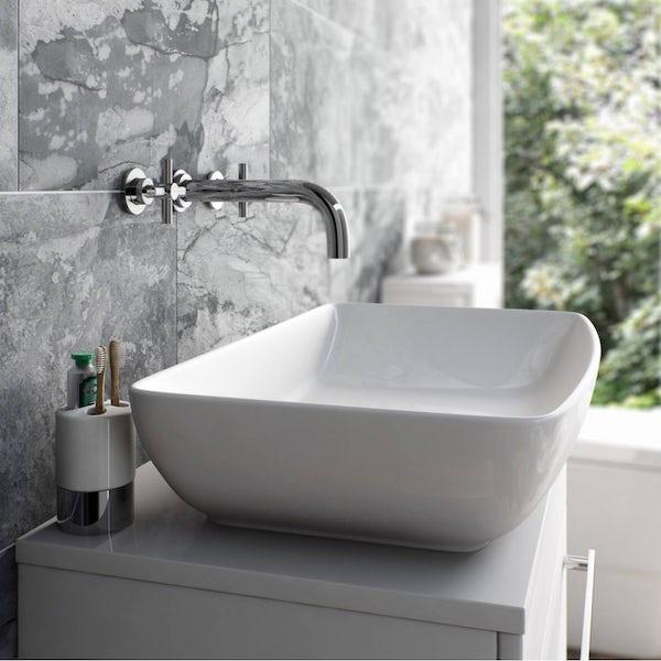 Mode Tate wall mounted basin filler tap