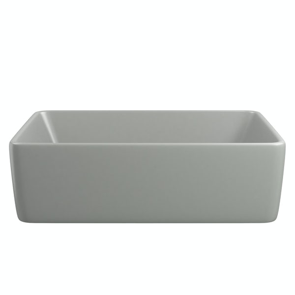 Gorgeous Grey countertop rectangular basin 485mm with waste