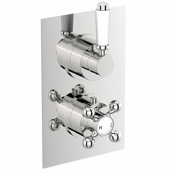 The Bath Co. Winchester twin thermostatic shower valve with diverter