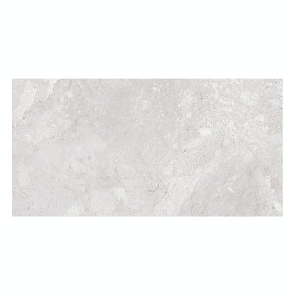British Ceramic Tile Flint HD white gloss wall tile 248mm x 498mm