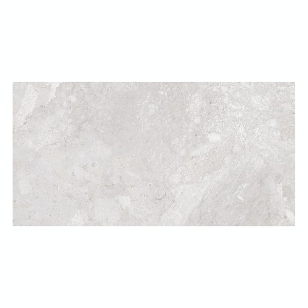 British Ceramic Tile Flint HD white gloss wall tile 248mm x 498mm