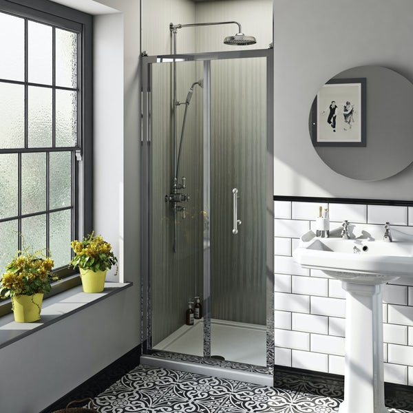 The Bath Co. Winchester traditional 6mm bifold shower door