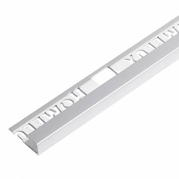 Aluminium Square Silver Effect Trim