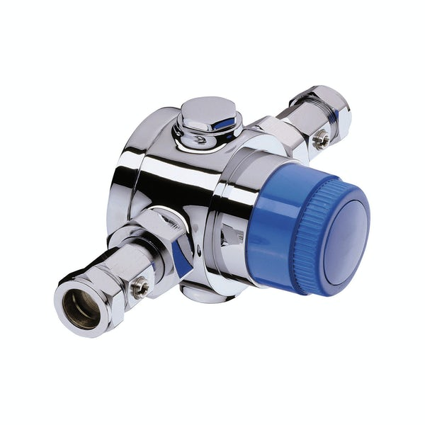 Bristan Thermostatic mixing valve 22mm with integral isolation valves