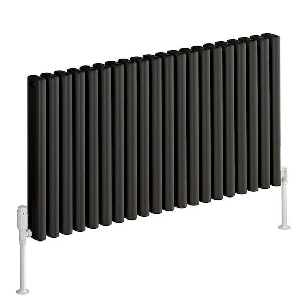 Reina Alco anthracite grey horizontal aluminium designer radiator