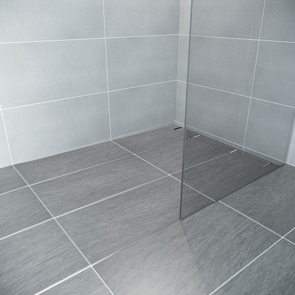 Mode single fall left handed wet room shower tray former and installation kit