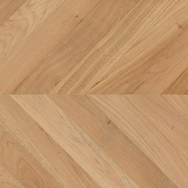 Tuscan Modelli Chevron light oak multiply brushed engineered wood flooring