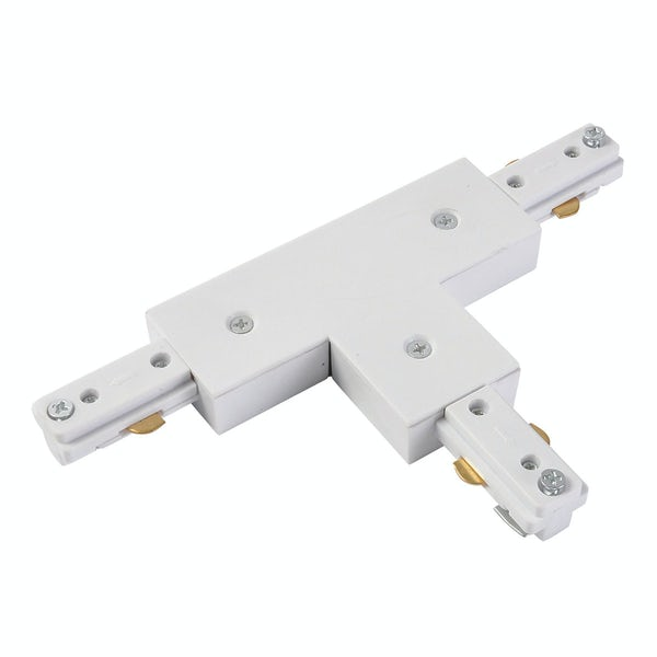 Forum Lyra 240V white single circuit track T-double live connector