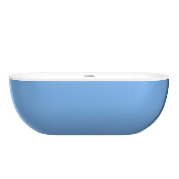 Mode Ellis lagoon coloured freestanding bath
