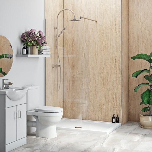 Multipanel Economy Aruban Sand matt shower wall single panel