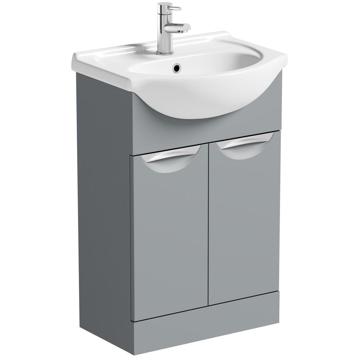 Orchard Elsdon stone grey vanity unit and basin 550mm