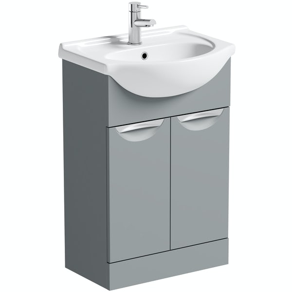 Orchard Elsdon stone grey vanity unit and basin 550mm