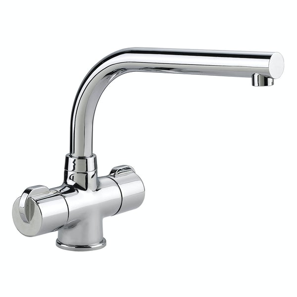 Rangemaster Aquadisc 3 brushed kitchen tap