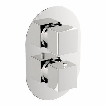 Mode Ellis oval twin thermostatic shower valve