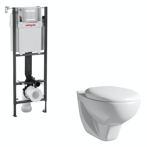 Orchard Elena wall hung toilet and wall mounting frame with push plate cistern