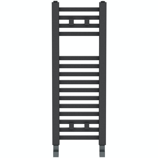 The Heating Co. Santiago anthracite grey heated towel rail
